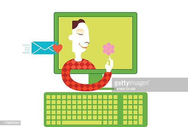 Man proposing online
