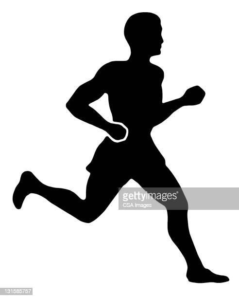 man running - athlete stock illustrations