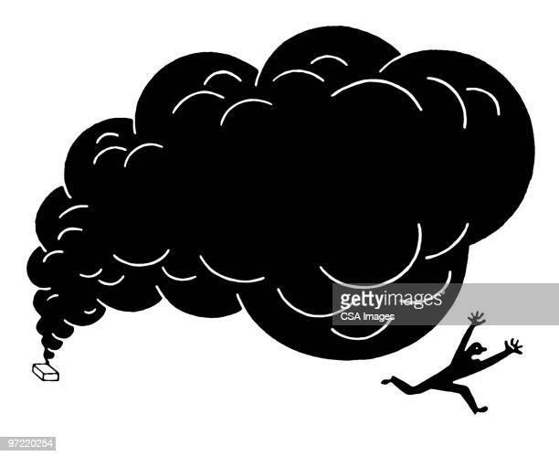 man running - smoke physical structure stock illustrations