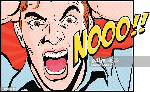 ilustraciones, imágenes clip art, dibujos animados e iconos de stock de man shouting, pulling hair - tirarse de los pelos