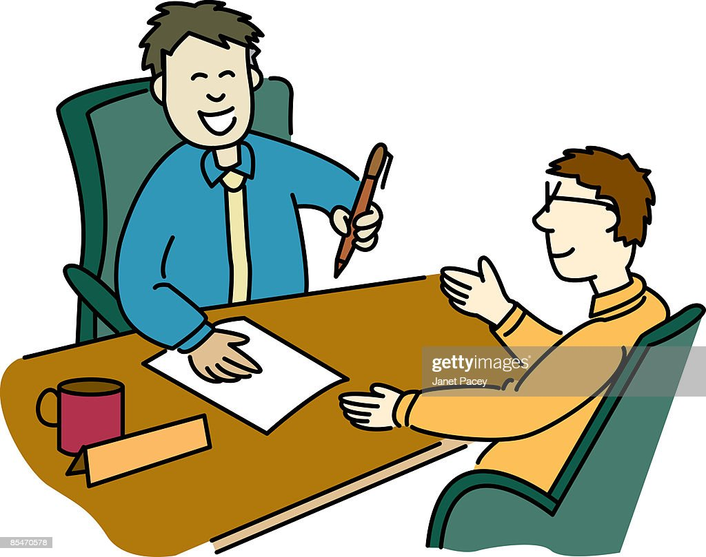 A man signing a contract with a businessman : Stockillustraties