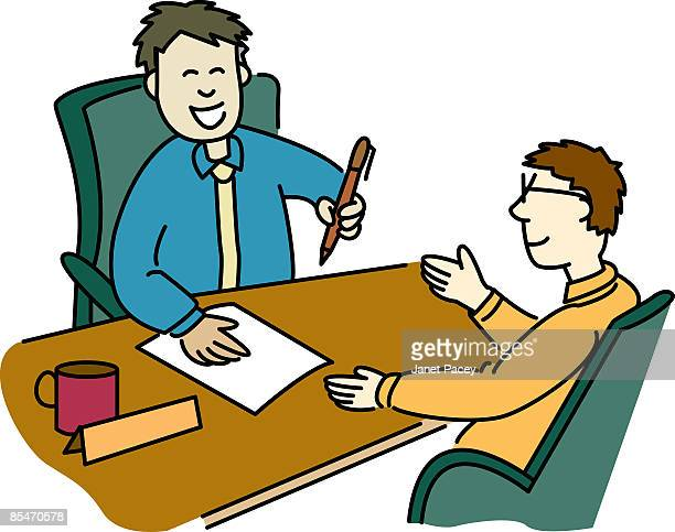 a man signing a contract with a businessman - legal document stock illustrations, clip art, cartoons, & icons