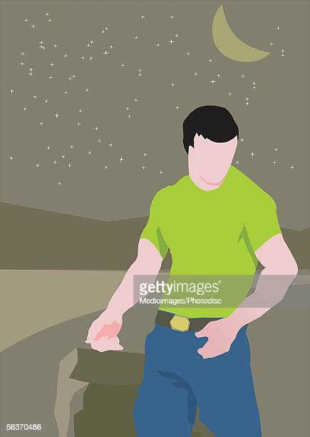 man standing - hair color stock illustrations, clip art, cartoons, & icons
