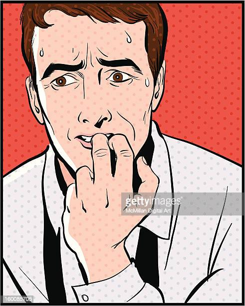 Nail Biting Stock Illustrations Getty Images