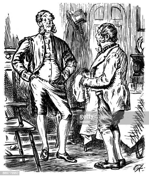 Man talking with his butler