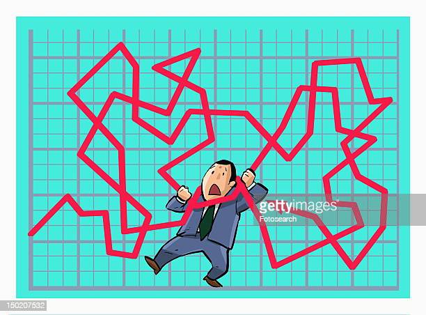 Man trying to change line graph