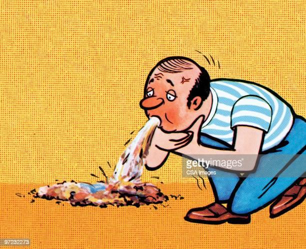 Man vomiting