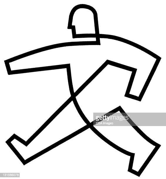 man walking - computer icon stock illustrations