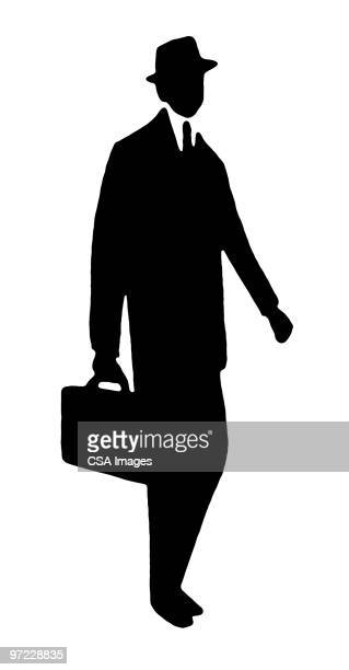 man walking - salesman stock illustrations