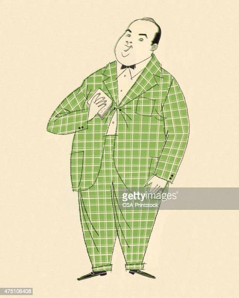 Man Wearing Checked Suit