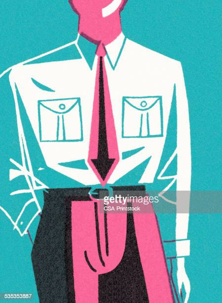man wearing dress shirt and tie - accessibility stock illustrations, clip art, cartoons, & icons
