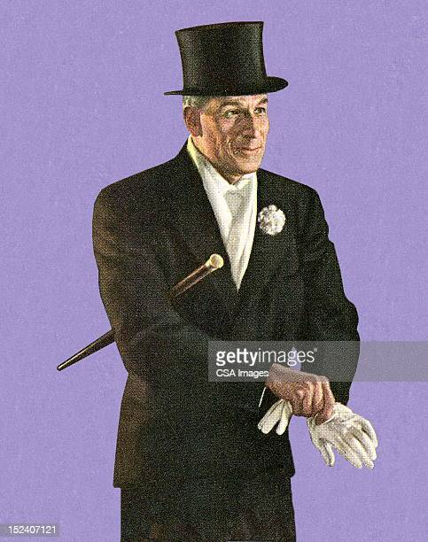 Man Wearing Top Hat
