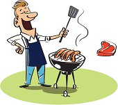 Man With BBQ
