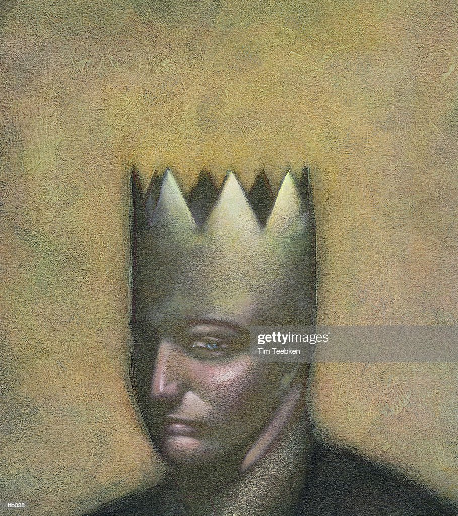 Man with Crown : Stock Illustration