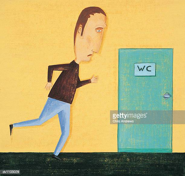 Man With Diarrhoea Running to the Lavatory