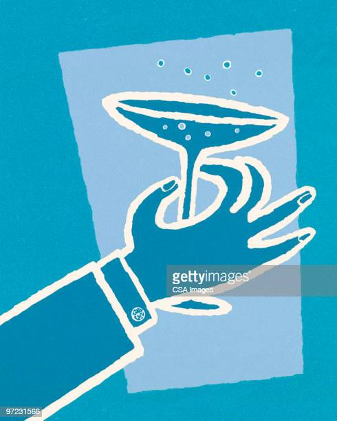 man with drink - wine stock illustrations