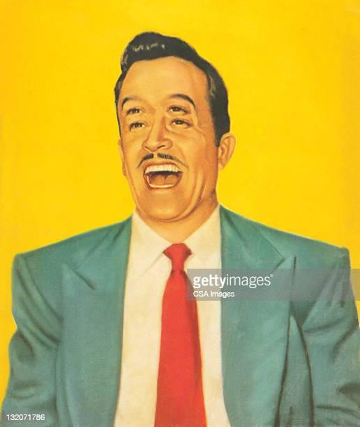 男性、笑い 4 つ目の