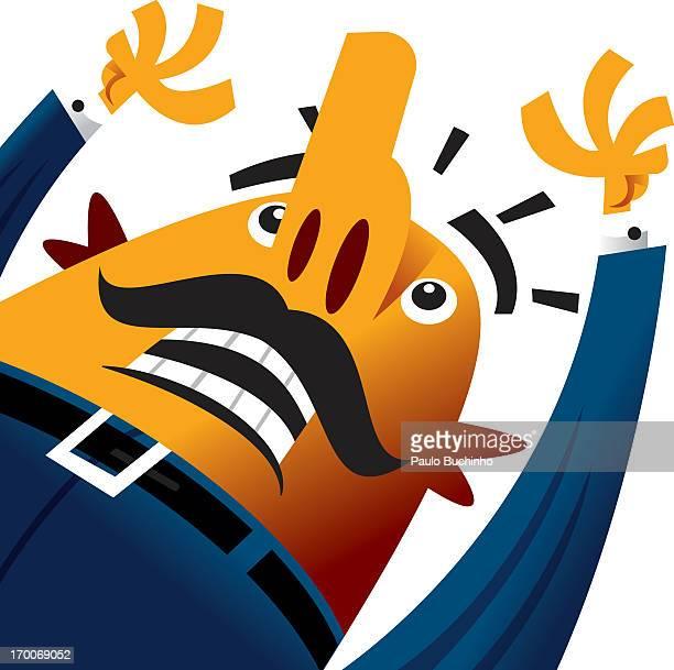 ilustrações de stock, clip art, desenhos animados e ícones de a man with his arms up in the air - buchinho