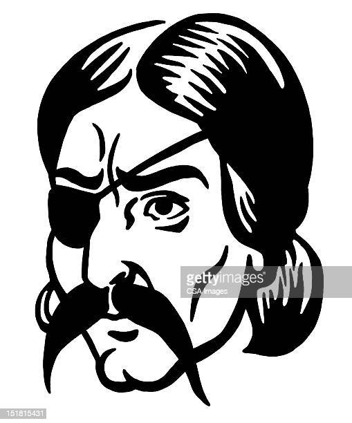 Man With Mustache and Eye Patch