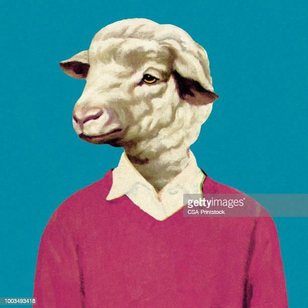 羊の頭を持つ男 - 羊点のイラスト素材/クリップアート素材/マンガ素材/アイコン素材