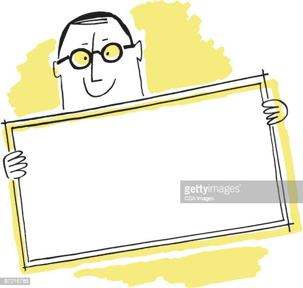 Man with Sign