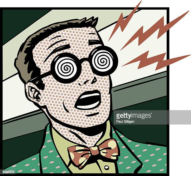 man with x-ray glasses - hypnosis stock illustrations, clip art, cartoons, & icons