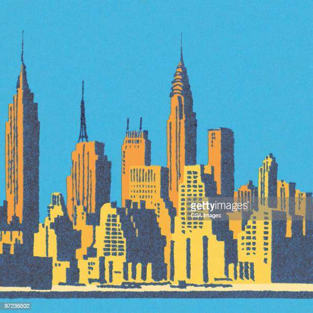 manhattan - corporate business stock illustrations