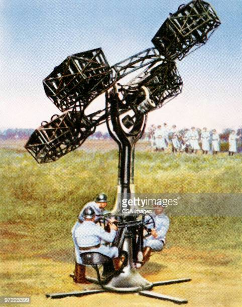 manned contraption - military stock illustrations