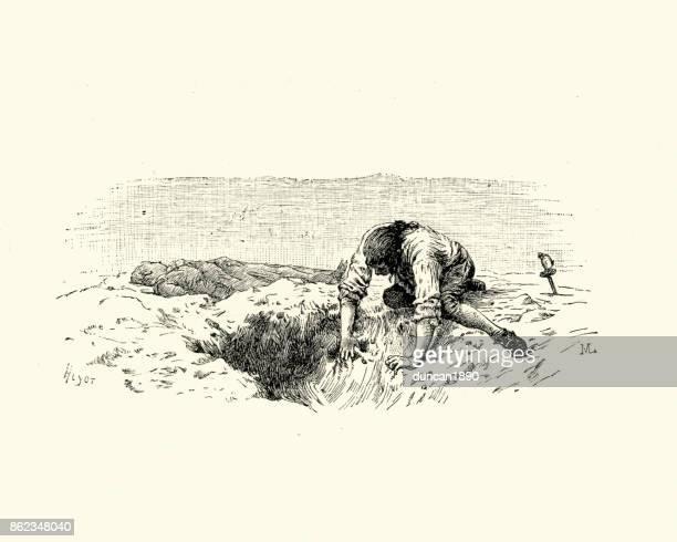 Manon Lescaut - Man burying a dead body
