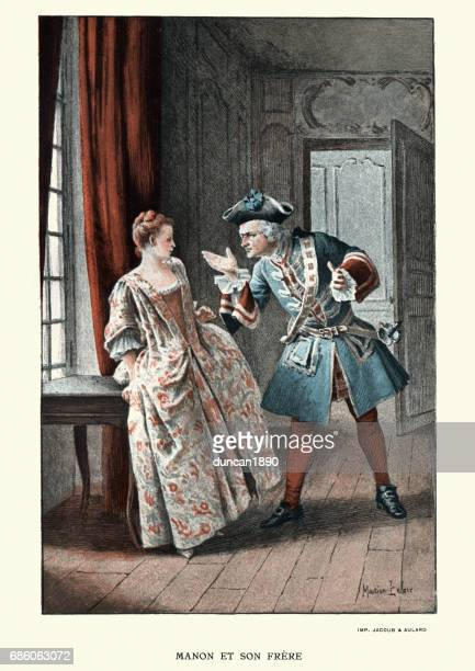 Manon Lescaut - Young woman arguing with her elder brother