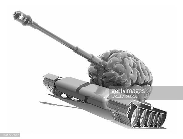 man's best weapon, conceptual artwork - war stock illustrations