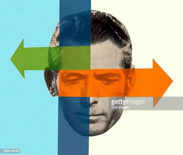 Man's Head and Arrows