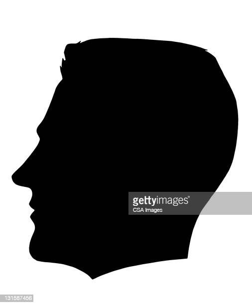 man's silhouette - human body part stock illustrations, clip art, cartoons, & icons