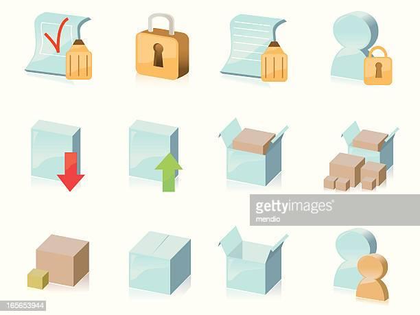 Manufacturing & Shopping-Icon-Set