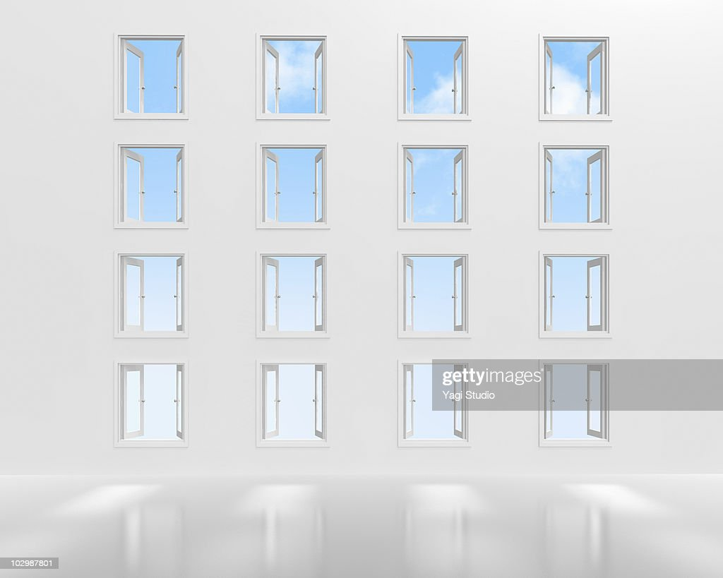 many opened windows ストックイラストレーション getty images