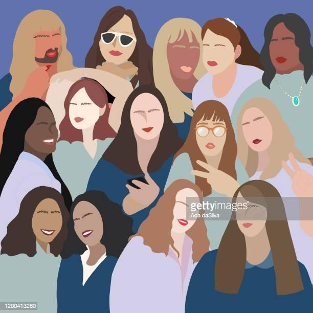 多くのタイプの女性と性別のイメージが少ない - lgbtqi点のイラスト素材/クリップアート素材/マンガ素材/アイコン素材