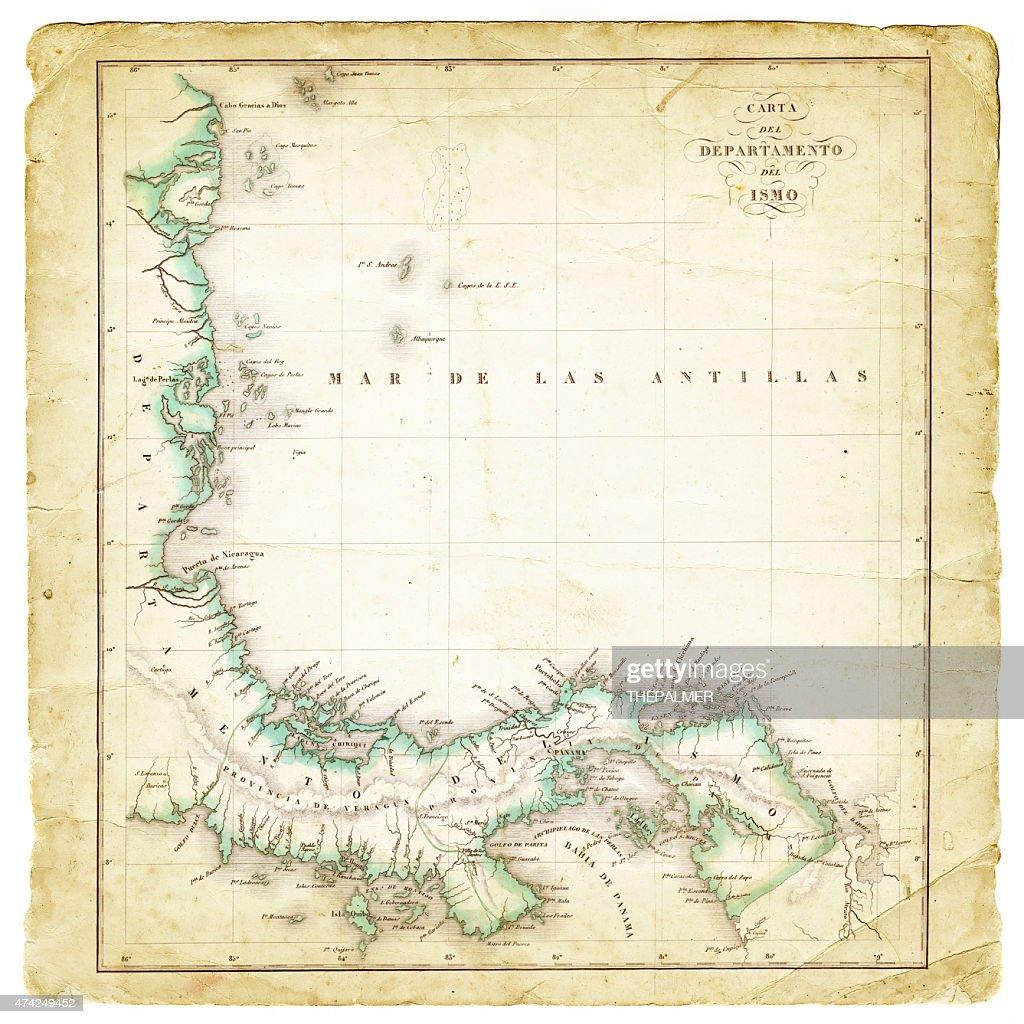 Map Department of Panama 1827 : stock illustration