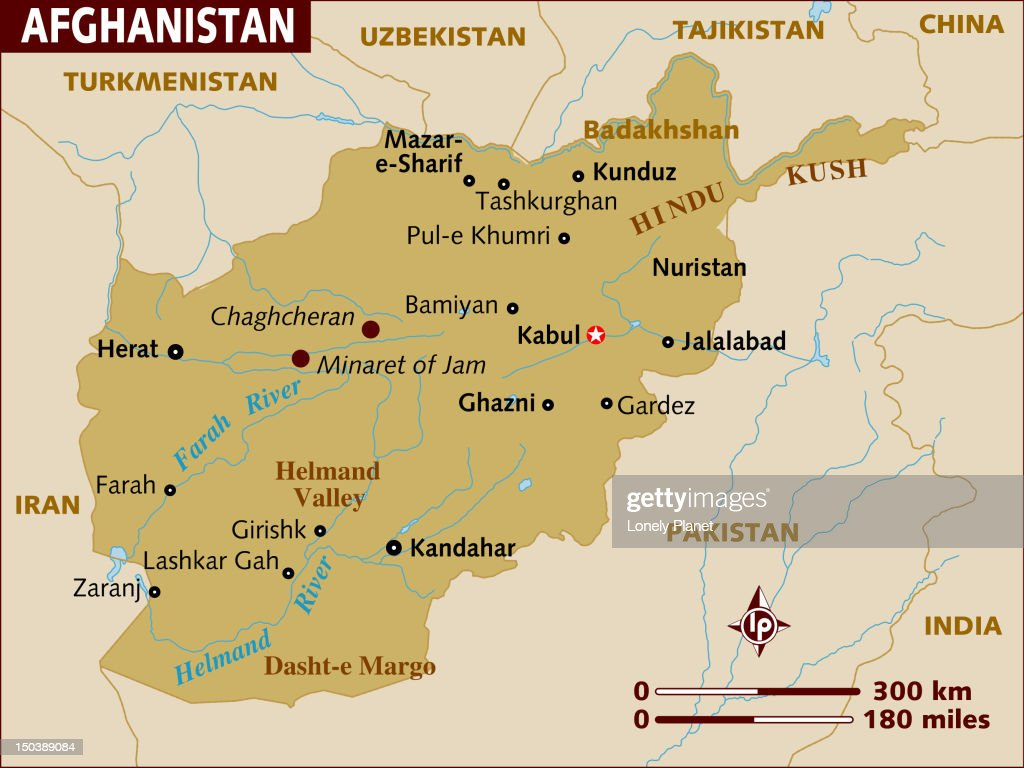 Map of Afghanistan. : stock illustration