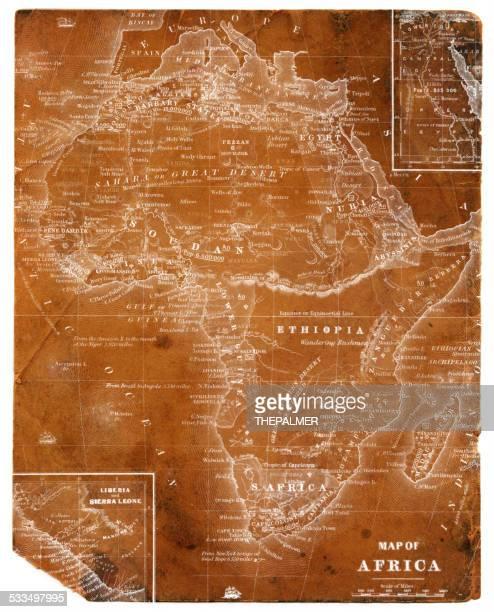 map of africa 1854 - ethiopia stock illustrations, clip art, cartoons, & icons