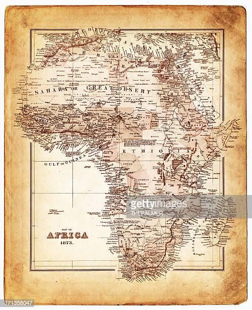 map of africa 1873 - ethiopia stock illustrations, clip art, cartoons, & icons