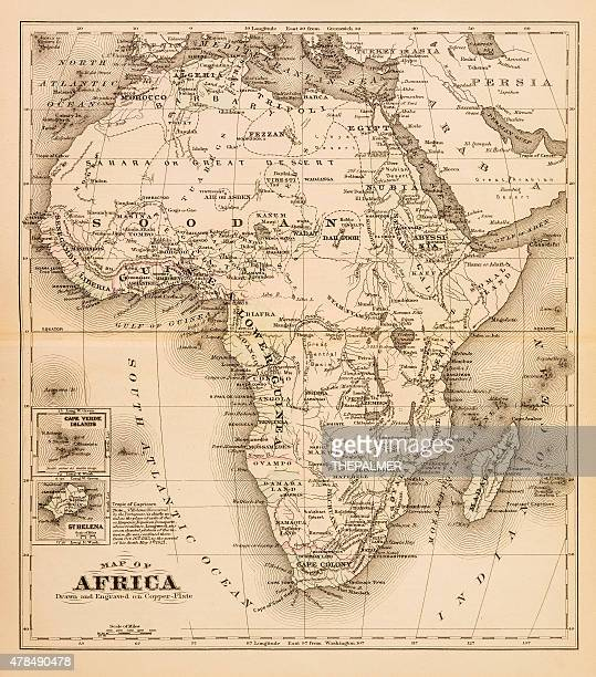 Map of Africa 1874