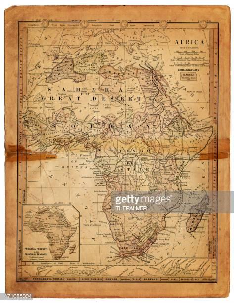map of africa 1884 - ethiopia stock illustrations, clip art, cartoons, & icons