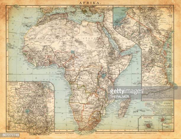 map of africa 1892 - horn of africa stock illustrations