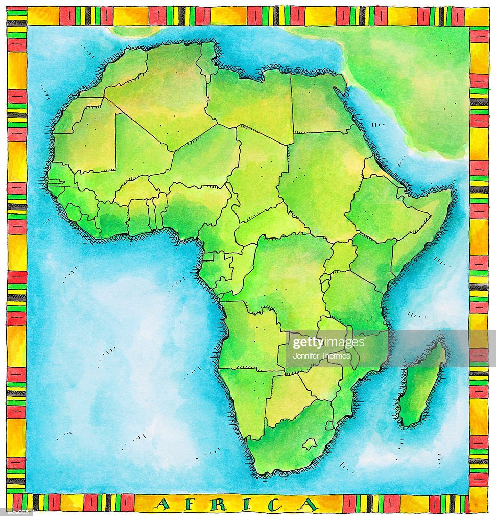 Map of Africa : Illustrazione stock