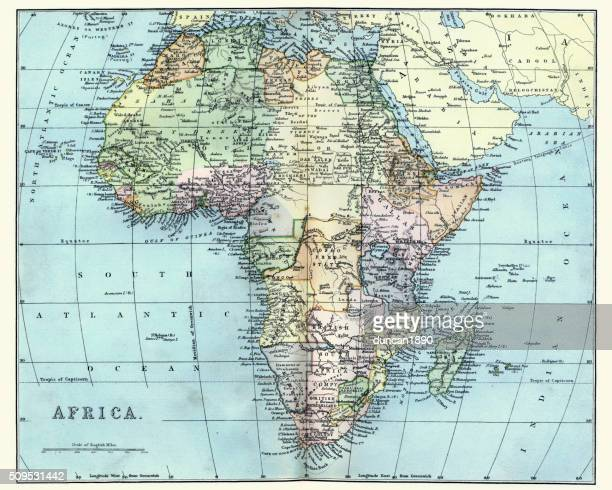 Map of Africa in the late 19th Century