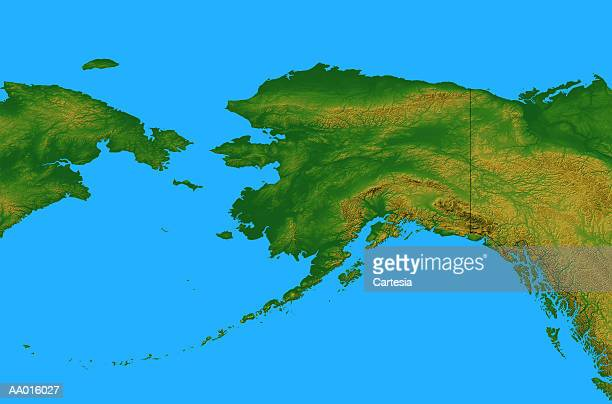 Top Physical Map Of Alaska Stock Illustrations, Clip art, Cartoons ...