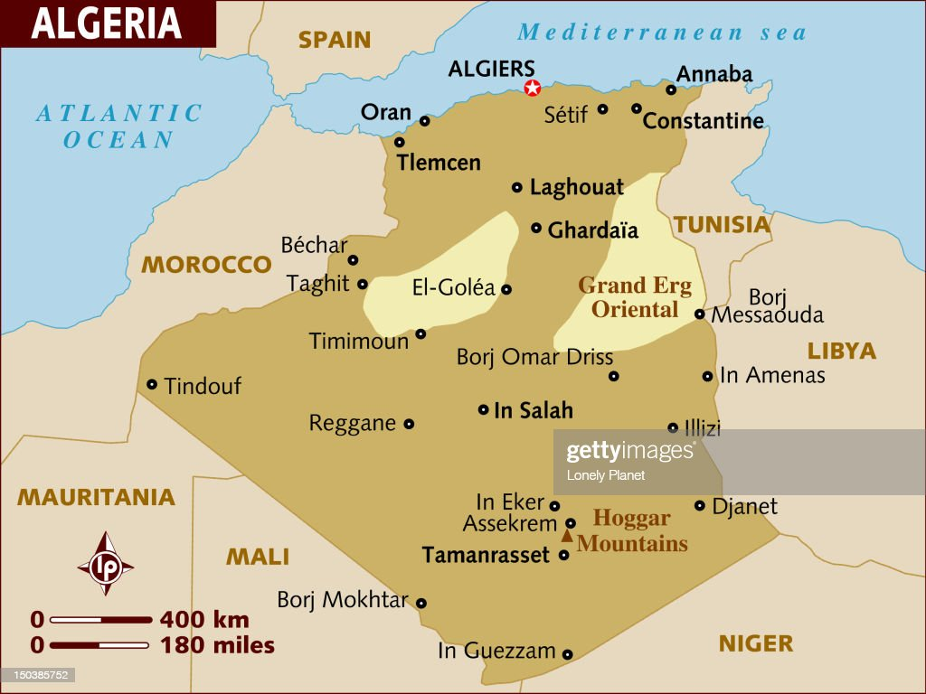 Map Of Algeria Stock Illustration Getty Images