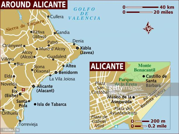 Map of Alicante and surrounds.