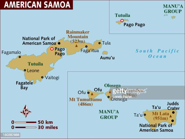 Map of American Samoa.