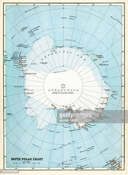 map of antarctica - antarctica stock illustrations, clip art, cartoons, & icons